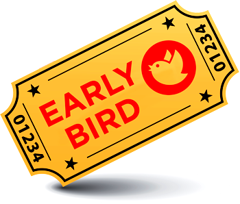 Image result for early bird tickets